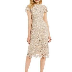 Antonio Melani Denan Lace Midi Length Sheath Dress